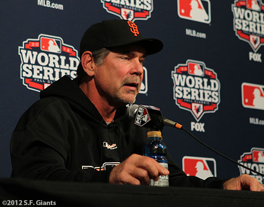 sf giants, san francisco giants, photo, media day, world series, BRUCE BOCHY