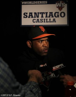 sf giants, san francisco giants, photo, media day, world series, santiago casilla