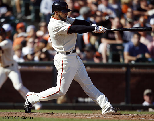 San Francisco Giants, S.F. Giants, photo, 2012, Justin Christian