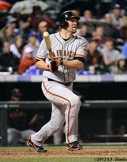 San Francisco Giants, S.F. Giants, photo, 2012, Aubrey Huff
