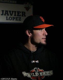 sf gaints, san francisco giants, photo, ws, media day, 2012, javeir lopez