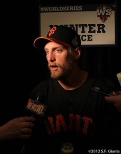 sf giants, world series, photo, 2012, HUNTER PENCE