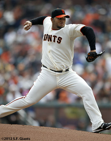 San Francisco Giants, S.F. Giants, photo, 2012, Yusmeiro Petit