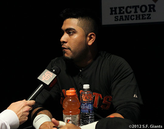 sf giants, world series, photo, 2012, HECTOR SANCHEZ