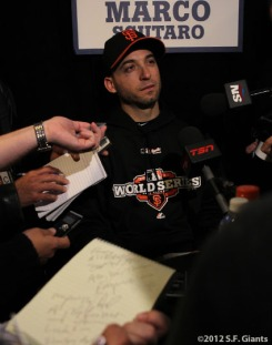 sf gaints, san francisco giants, photo, ws, media day, 2012, MARCO SCUTARO