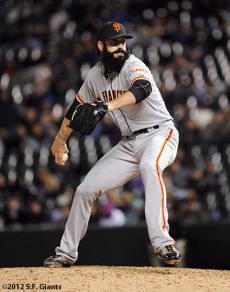 San Francisco Giants, S.F. Giants, photo, 2012, Brian Wilson