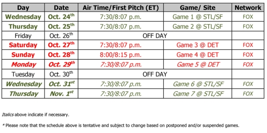 Microsoft Word - MLB Announces 2012 World Series Broadcast Sched