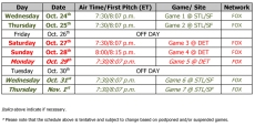 World Series Schedule
