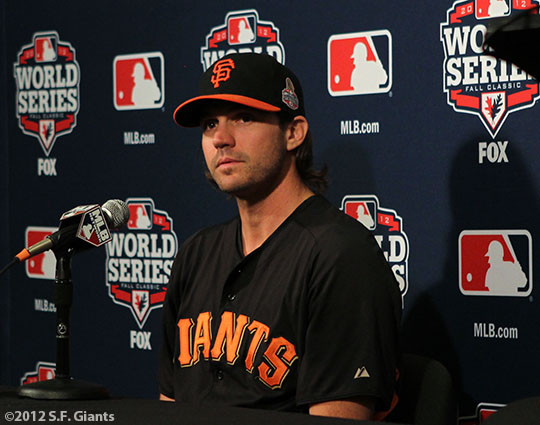 sf giants, san francisco giants, photo, media day, world series, barry zito