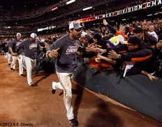 sf giants, clinch the west, photo, 2012, angel pagan