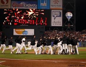 sf giants, clinch the west, photo, 2012, team