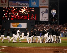 sf giants, win the west, 2012, photo, team