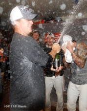 sf giants, photo, 2012, clinch the west, matt cain, brian wilson