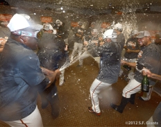 sf giants, clinch the west, photo, 2012, pablo sandoval