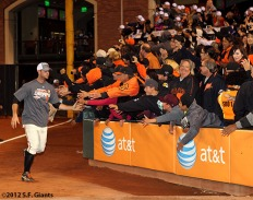 sf giants, clinch the west, photo, 2012, team, brandon belt