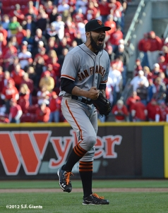 sf giants, nlds, game 5, 2012, photo, sergio romo