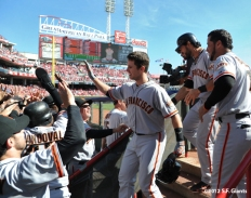 sf giants, photo, nlds, 2012, team, buster posey