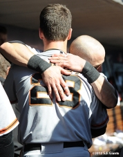sf giants, nlds, game 5, 2012, photo, buster posey, marco scutaro