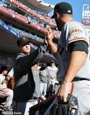 sf giants, nlds, game 5, 2012, photo, matt cain, george kontos