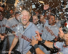 sf giants, nlds, game 5, 2012, photo, hunter pence, team