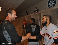 sf giants, nlds, game 5, 2012, photo, ryan vogelsong, sergio romo
