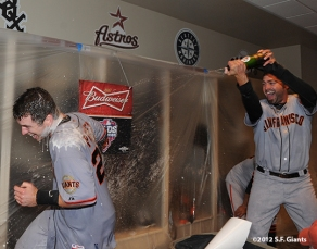 sf giants, photo, nlds, 2012, buster posey, jeremy affedlt