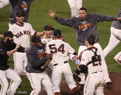 sf giants, nlcs, game 7, 2012, photo, team