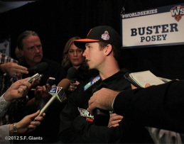sf giants, world series, buster posey, mvp, 2012, photo