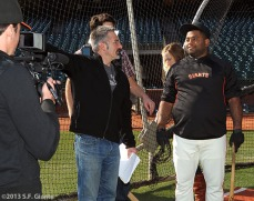 San Francisco Giants, S.F. Giants, photo, 2013, commercial shoot, Pablo Sandoval
