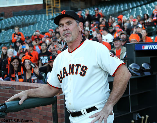 San Francisco Giants, S.F. Giants, photo, 2013, commercial shoot, Bruce Bochy