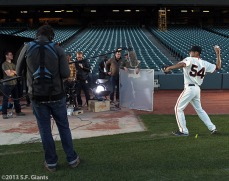 San Francisco Giants, S.F. Giants, photo, 2013, commercial shoot, Sergio Romo