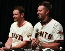 San Francisco Giants, S.F. Giants, photo, 2013, Town Hall, Dan Runzler, Jeremy Affeldt