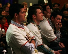 San Francisco Giants, S.F. Giants, photo, 2013, Town Hall, Javier Lopez, Buster Posey, Brandon Belt