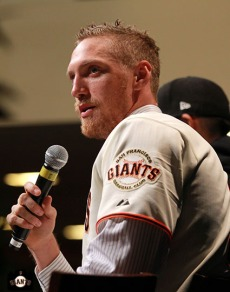 San Francisco Giants, S.F. Giants, photo, 2013, Town Hall, Hunter Pence
