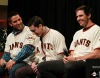 San Francisco Giants, S.F. Giants, photo, 2013, Town Hall, Madison Bumgarner, Tim Lincecum, Barry Zito