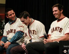 Madison Bumgarner, Tim Lincecum and Barry Zito