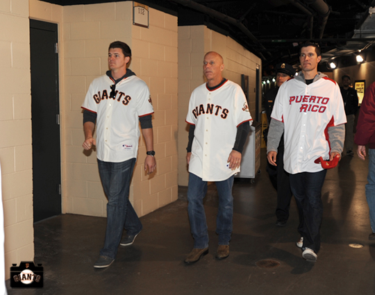 Brett Pill, Tim Flannery & Javier Lopez going to their first station