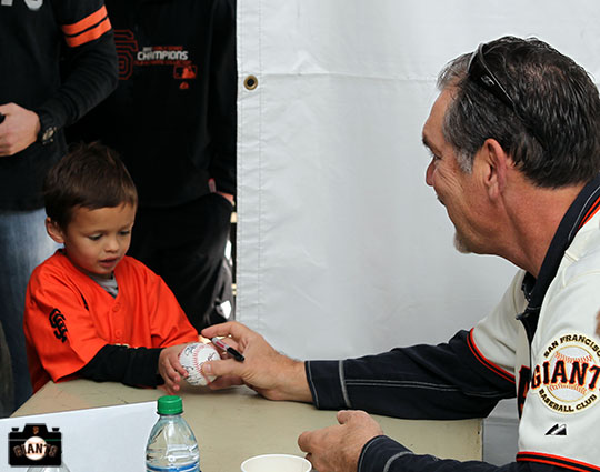 San Francisco Giants, S.F. Giants, photo, 2013, Fan Fest, Bruce Bochy