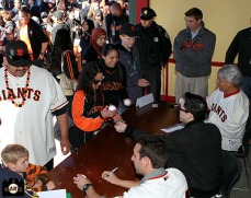 San Francisco Giants, S.F. Giants, photo, 2013, Fan Fest, Nick Noonan, Tim Lincecum, Dave Dravecky
