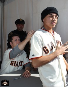 San Francisco Giants, S.F. Giants, photo, 2013, Fan Fest, Buster Posey