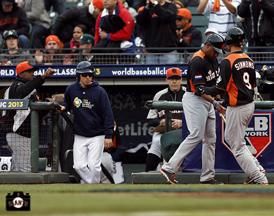 2013 world baseball classic, netherlands, dominican republic, AT&T Park, Andrelton Simmons