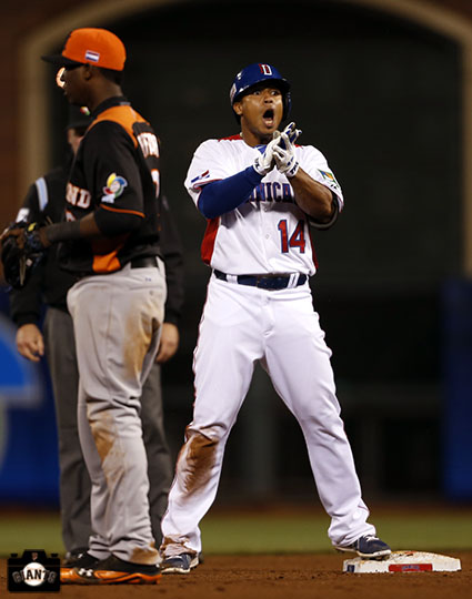 2013 world baseball classic, netherlands, dominican republic, AT&T Park, Moises Sierra