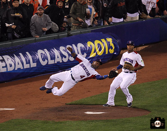 sf giants, at&t park, 2013 world baseball classic, puerto rico, finals, dominican republic, Miguel Tejada