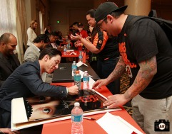 San Francisco Giants, S.F. Giants, photo, 2013, Play Ball Lunch, Jr. Giants, Tim Lincecum