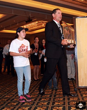 San Francisco Giants, S.F. Giants, photo, 2013, Play Ball Lunch, Bruce Bochy, Jr. Giants