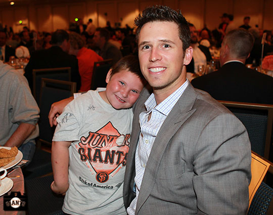 San Francisco Giants, S.F. Giants, photo, 2013, Play Ball Lunch, Buster Posey, Jr. Giants