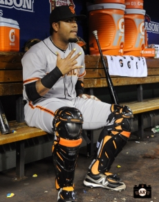 2013 SF Giants, Hector sacchez, photo