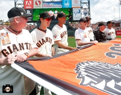 2013 Opening Day, april 5, at&t park, photo, tim lincecum, fans, hunter pence, bruce bochy, ryan vogelsong