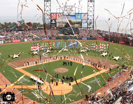 apirl 7, 2013, sf giatns, 2012 world series ring, san francisco, pregame ceremony, photo,