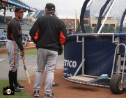 april 13, 2013, sf giants, chicago cubs, wrigley field, photo, bruce bochy, hunter pence